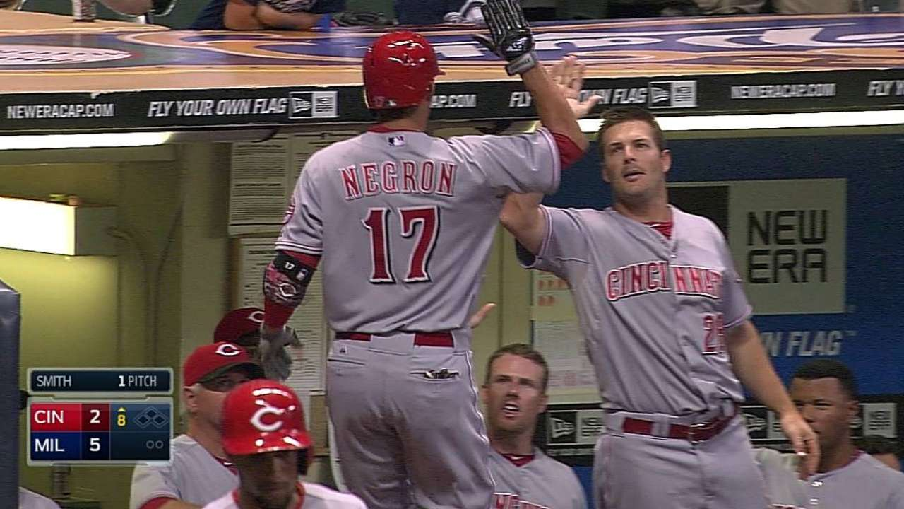 Versatile Negron happy to fill any role for Reds