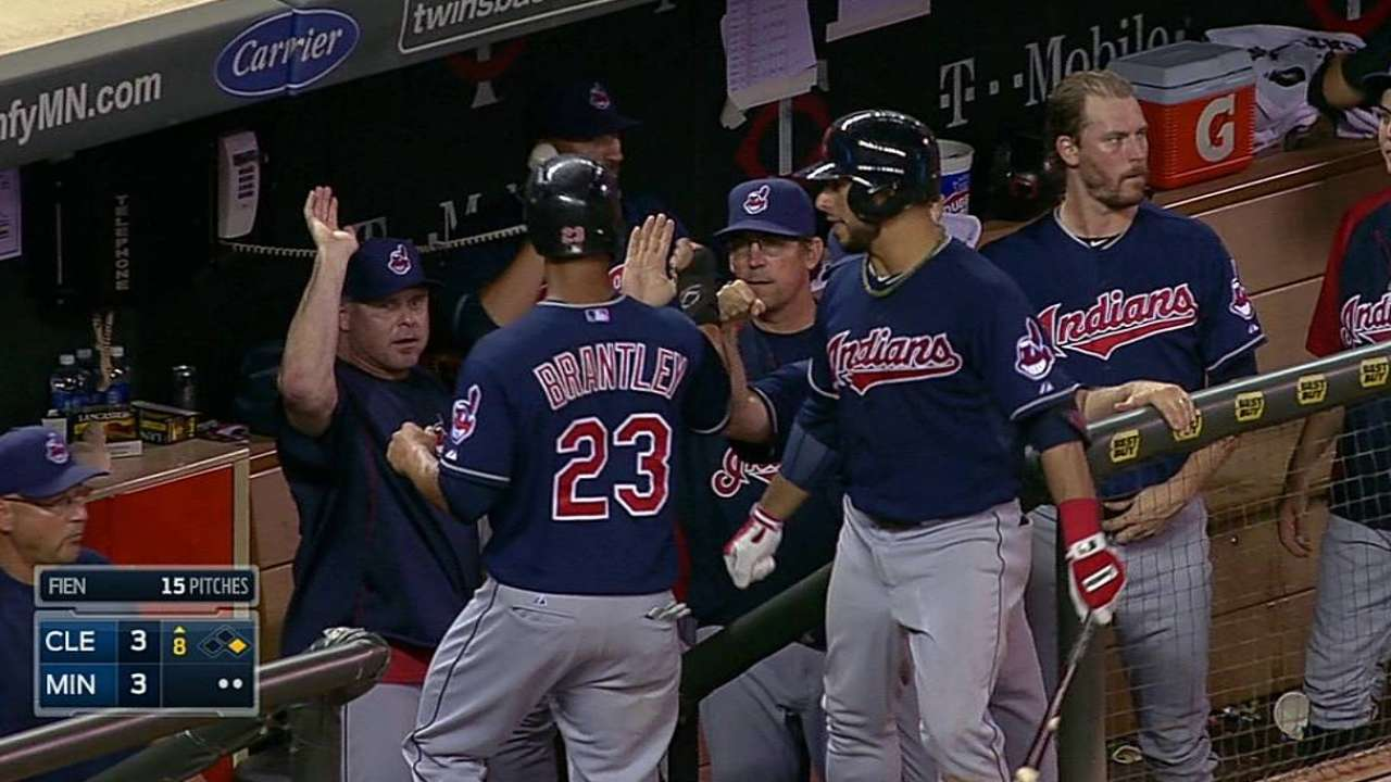 Tribe ties game late before Twins pull ahead on HR