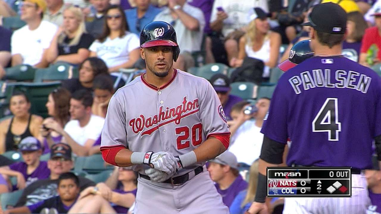 Desmond's five hits, two-run homer spark Nationals