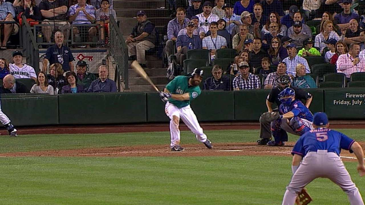 Ackley is heating up at the plate