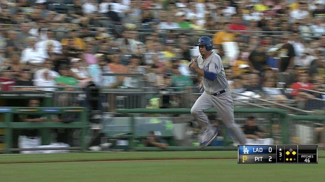 Adrián remolca tres pero Dodgers caen en Pittsburgh