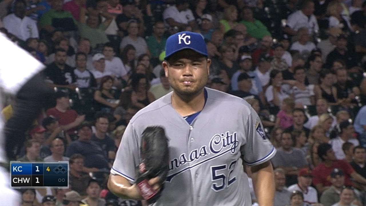 Royals designate veteran Chen for assignment