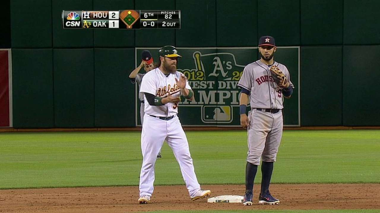 A's edged in extras after Kazmir's sharp start