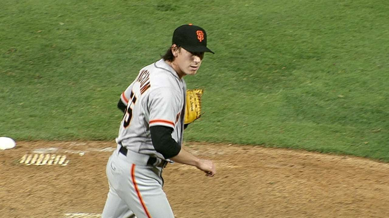 First career save gives Lincecum rare feat