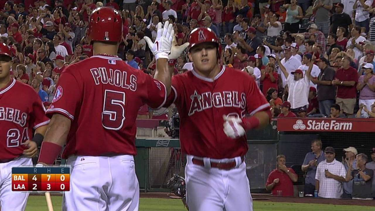 Trout waiting for right time to unleash speed