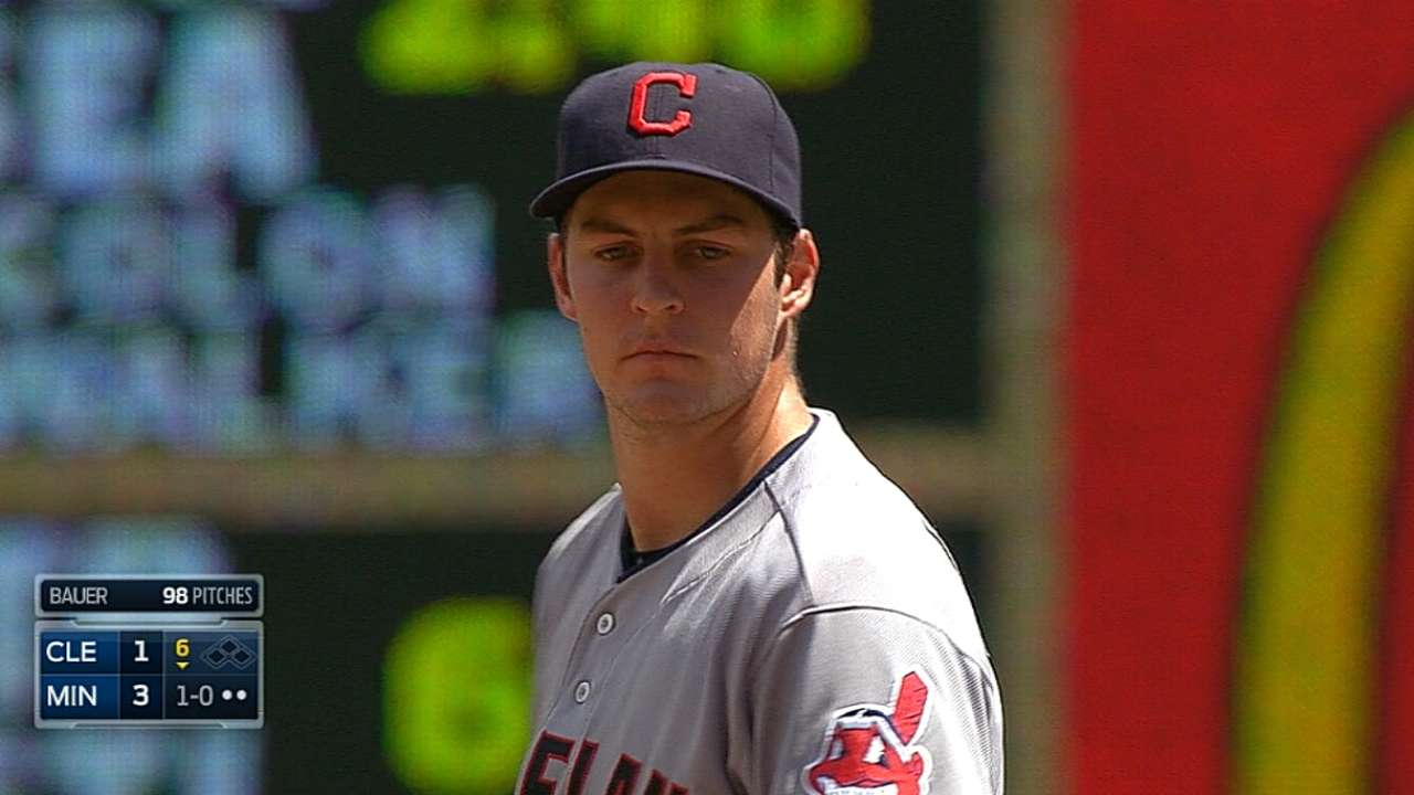 Indians drop series despite Bauer's quality start