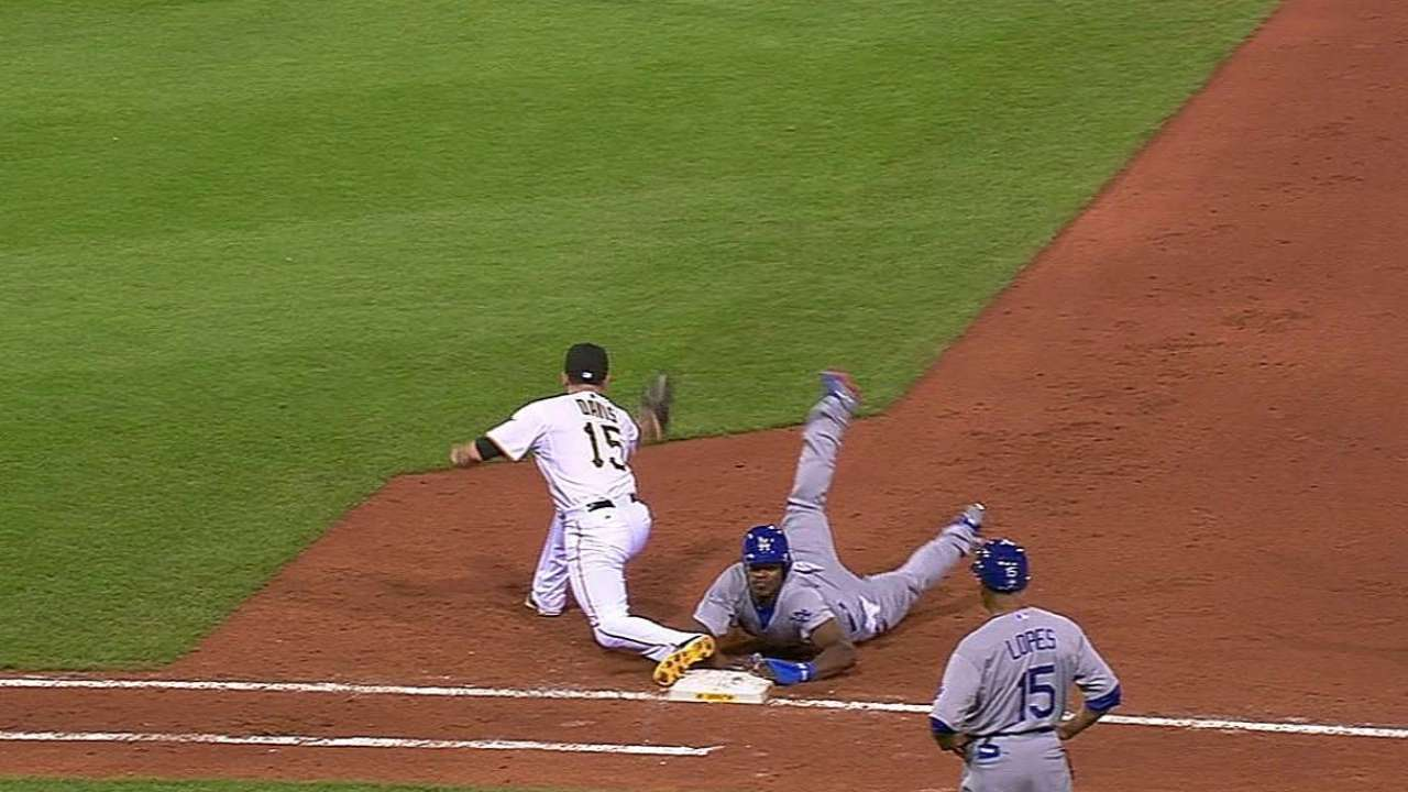 Pirates lose challenge on close play at first