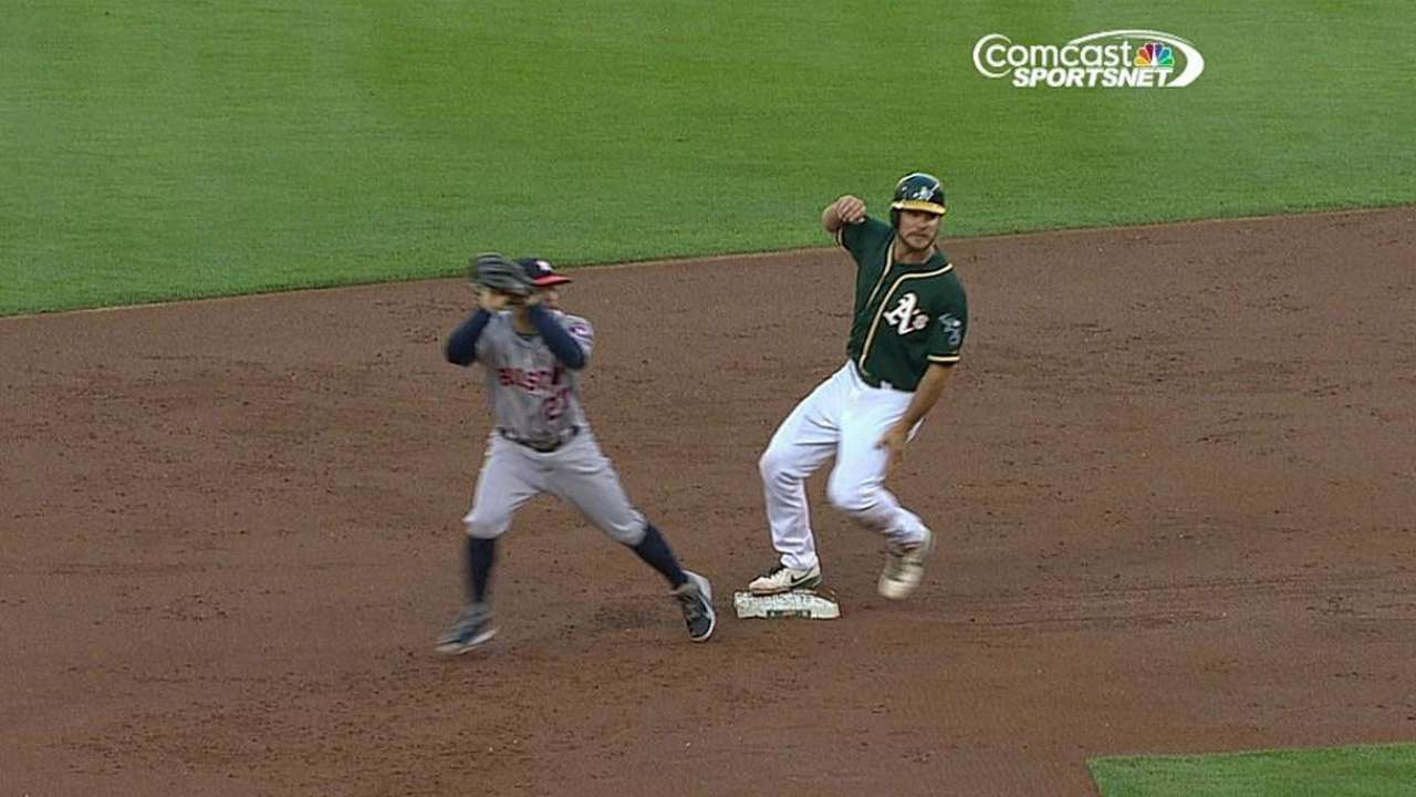 A's win challenge, earning hit for Donaldson