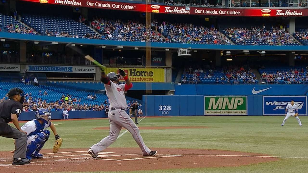 Papi sets record for HRs by visitor at Rogers Centre