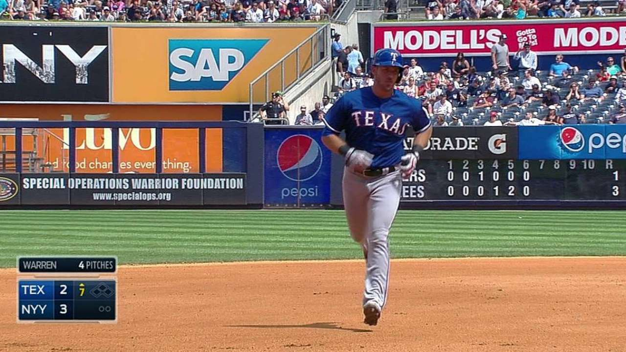 Rangers can't go to bat for effective Lewis