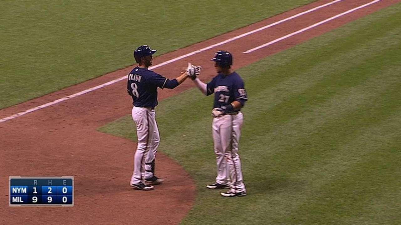 Cerveceros vencen a Mets y suman 4to triunfo en fila