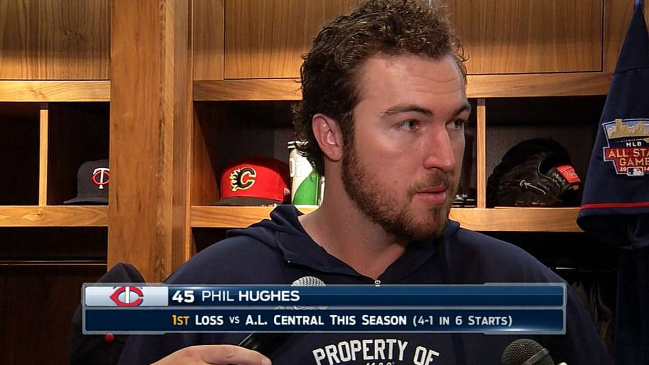 Hughes feels better, expects to make next start