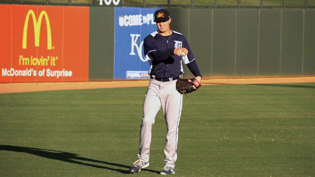 Prospect Knebel at the ready in first Majors experience