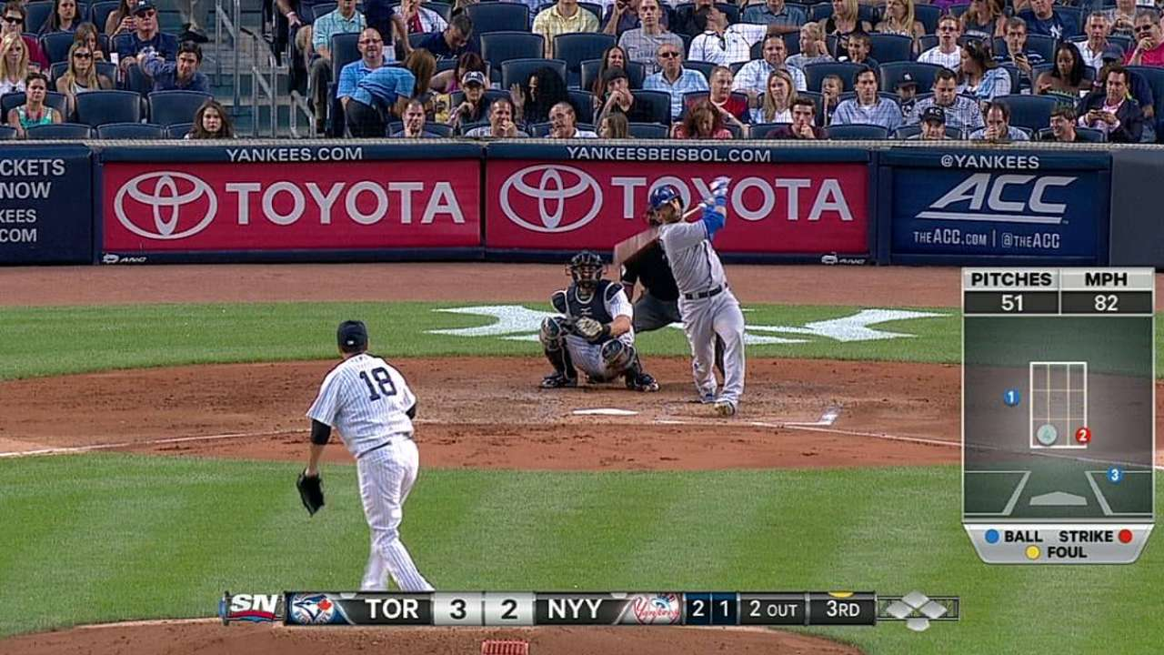 Bautista's two HRs not enough for Buehrle vs. Yanks