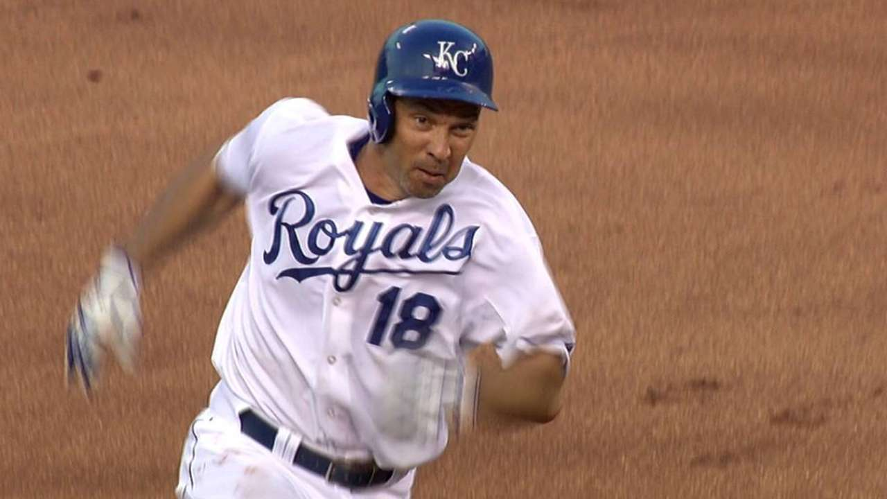 Ibanez oldest in Royals history to triple