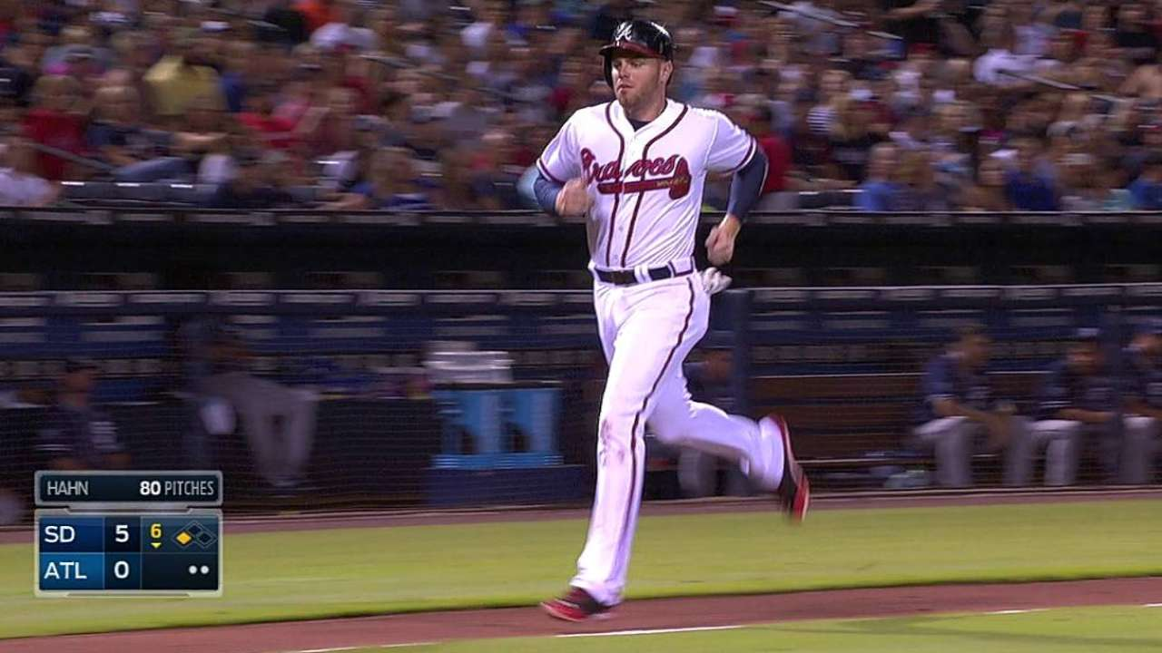 Wood tagged as Braves can't cash in vs. Padres
