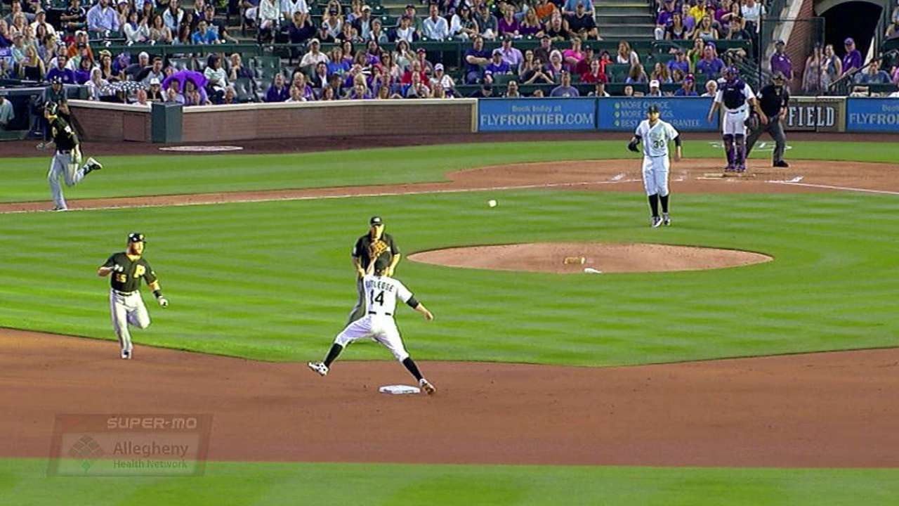 After replay, Rockies just miss turning triple play