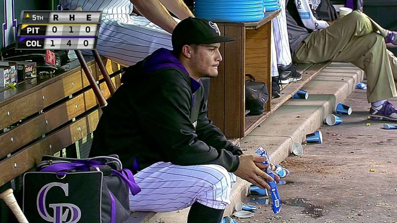 Arenado benched after not hustling to first