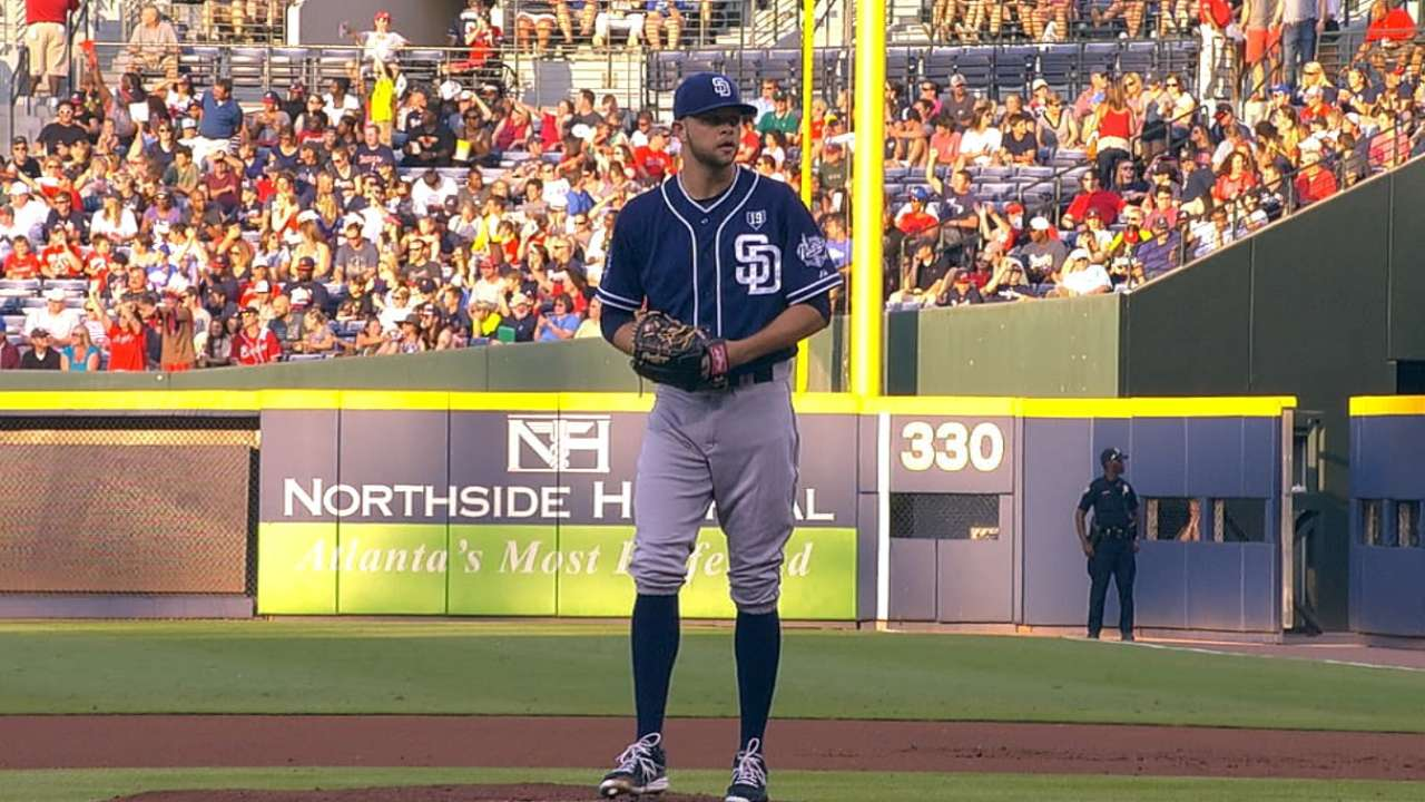 Padres keeping close eye on Hahn's workload