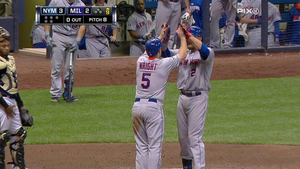 Mets remontaron en Milwaukee con jonrón de Duda