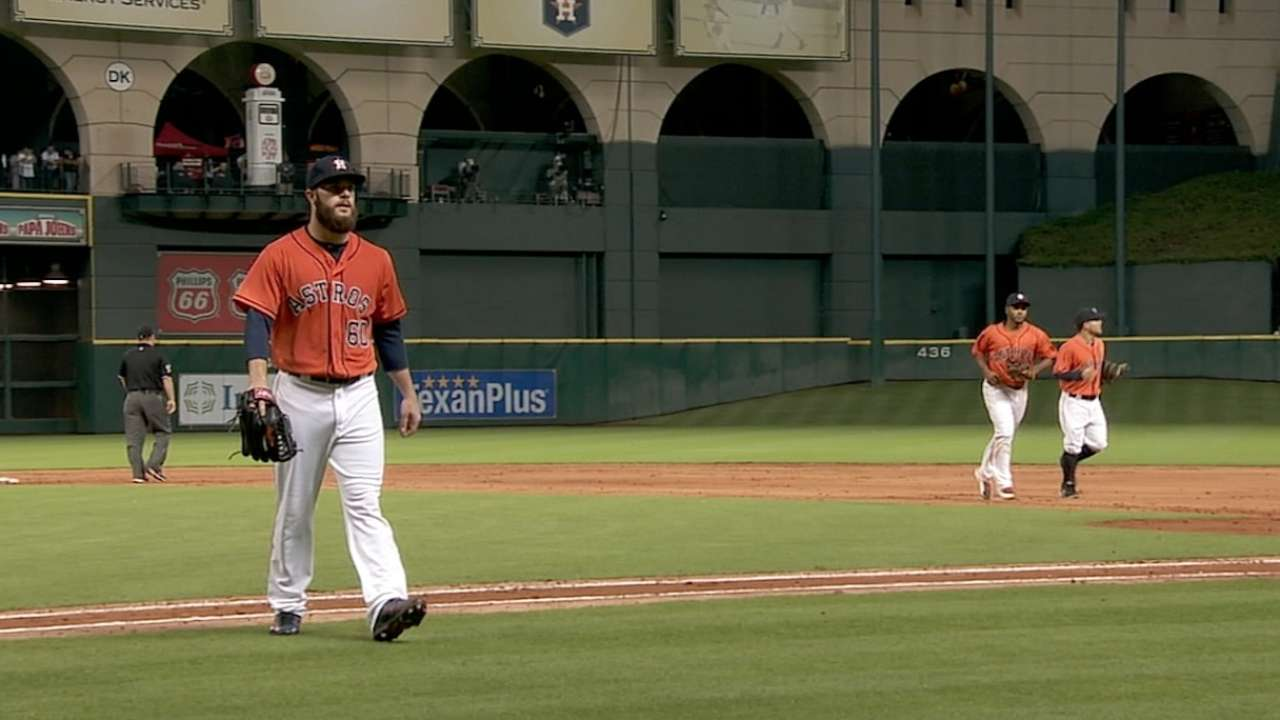 Astros can't connect for Keuchel in loss to Marlins