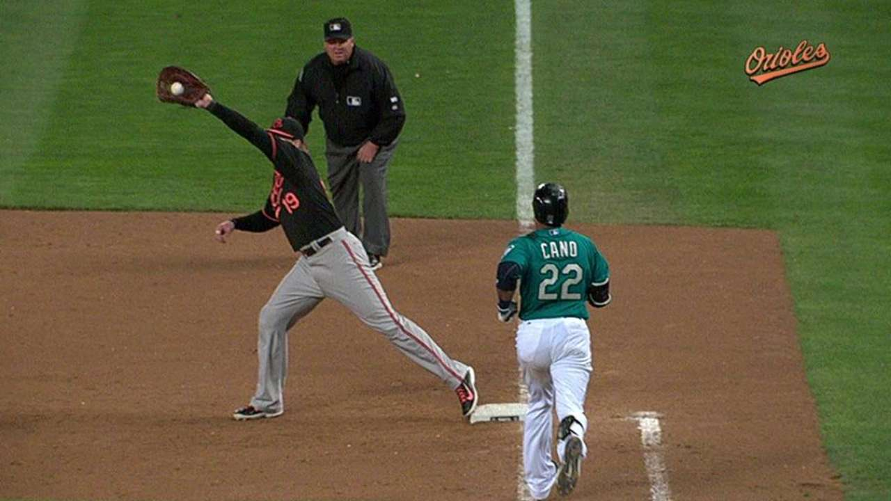Overturned call gives Orioles final out in Seattle