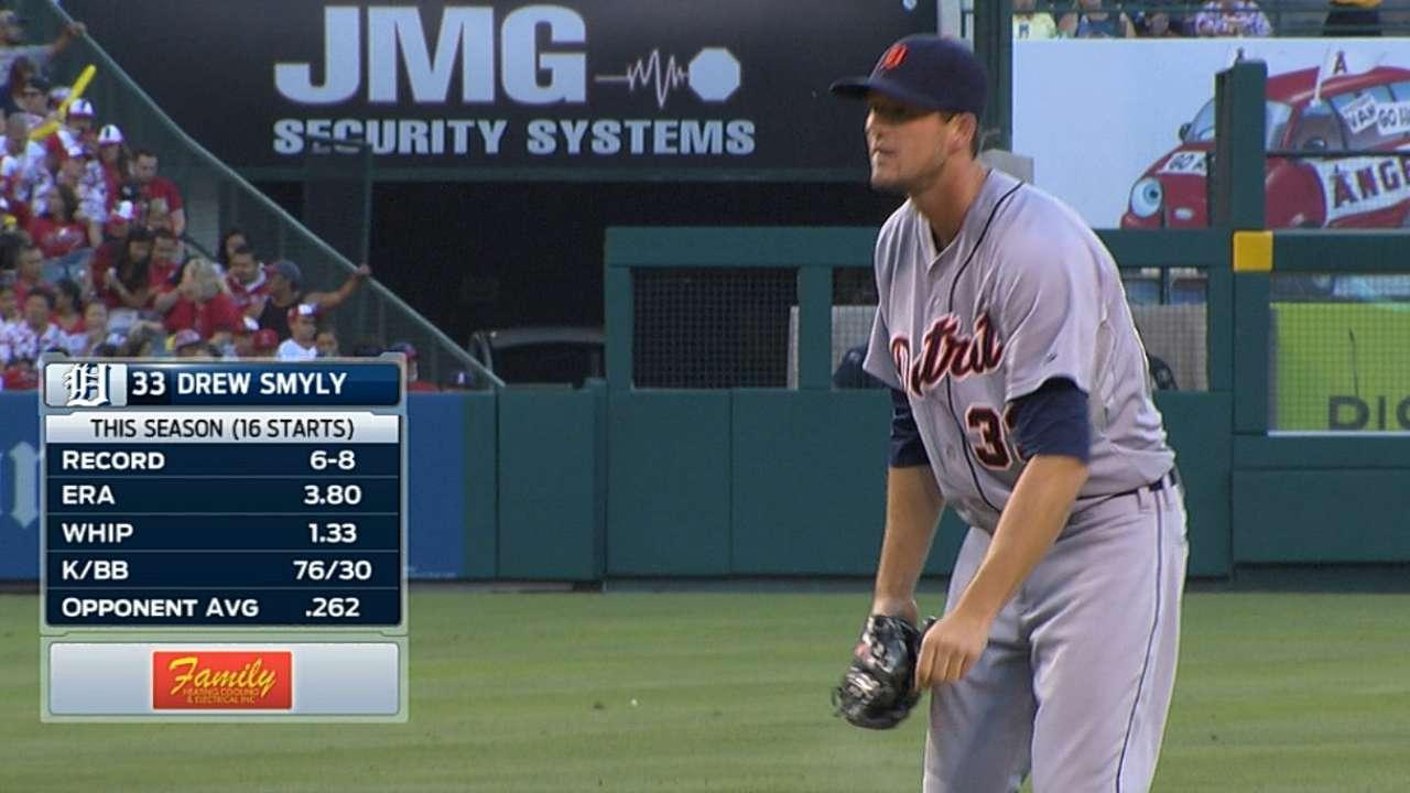 Smyly bends in sixth inning of 11-K effort