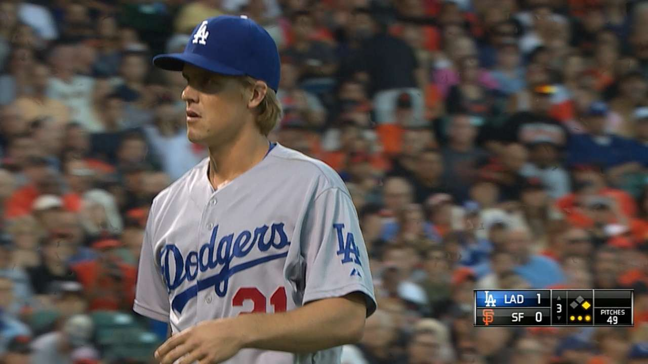 Greinke records rare four-strikeout inning