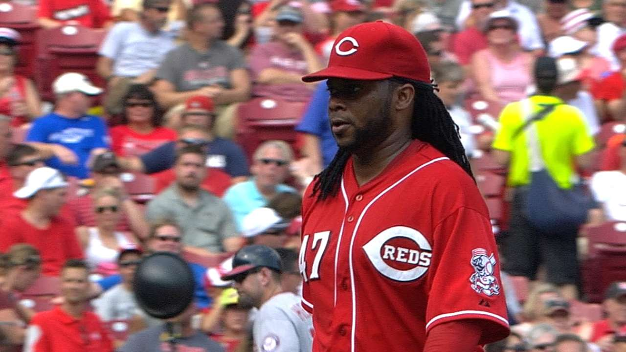 Cueto throws zeros as Reds end seven-game slide