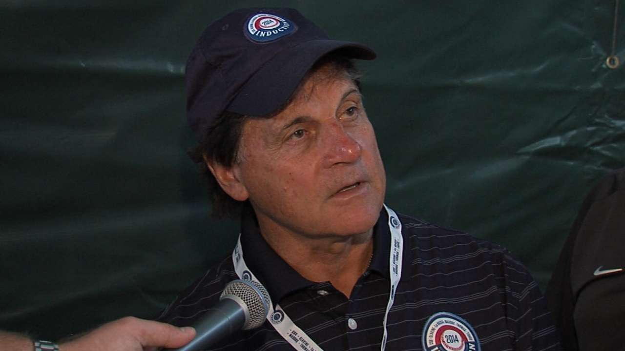 La Russa admits to nerves for Hall induction
