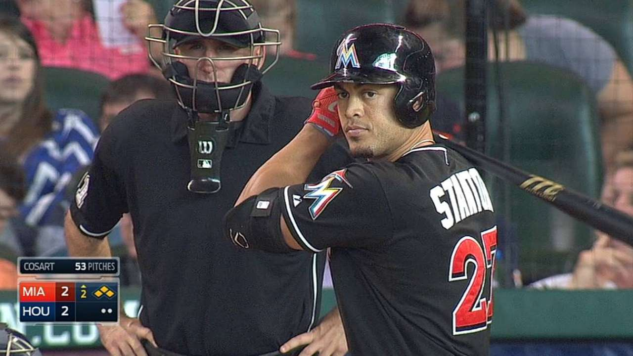 Stanton's scorcher helps seal series win in Houston