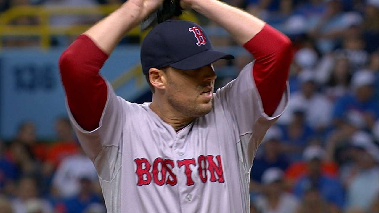 Red Sox can't back Lackey in fifth straight loss