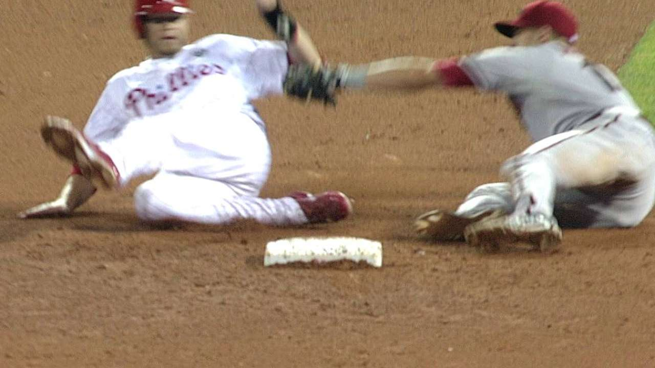 D-backs win one challenge, lose another in Philly