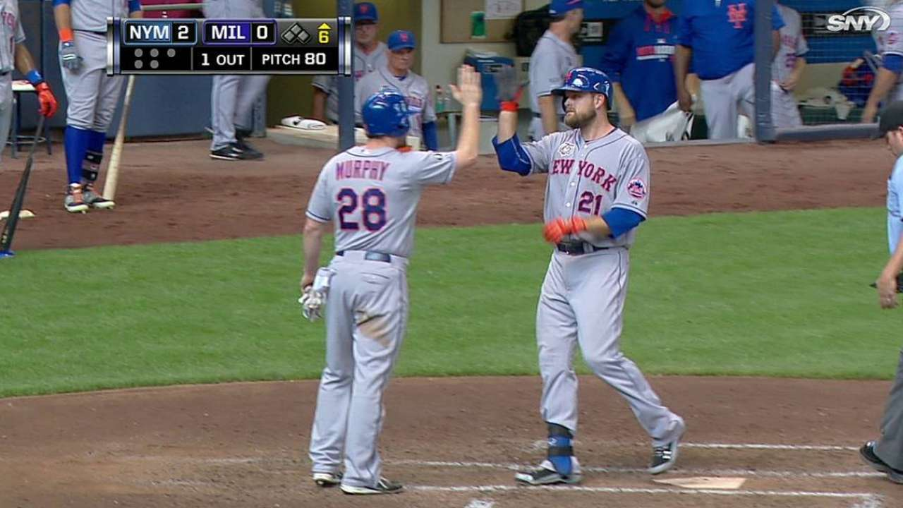 Duda's homer powers deGrom, Mets past Brewers