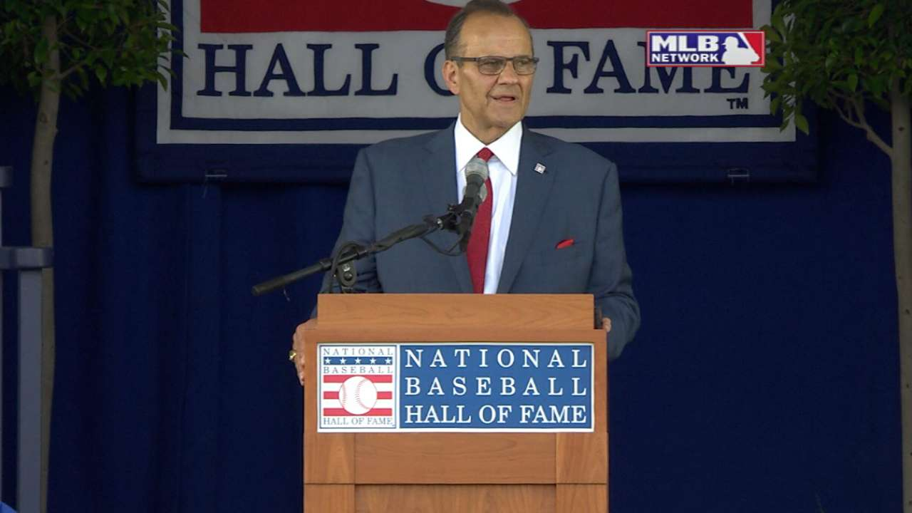 Torre's Hall speech: Game 'part of the American soul'