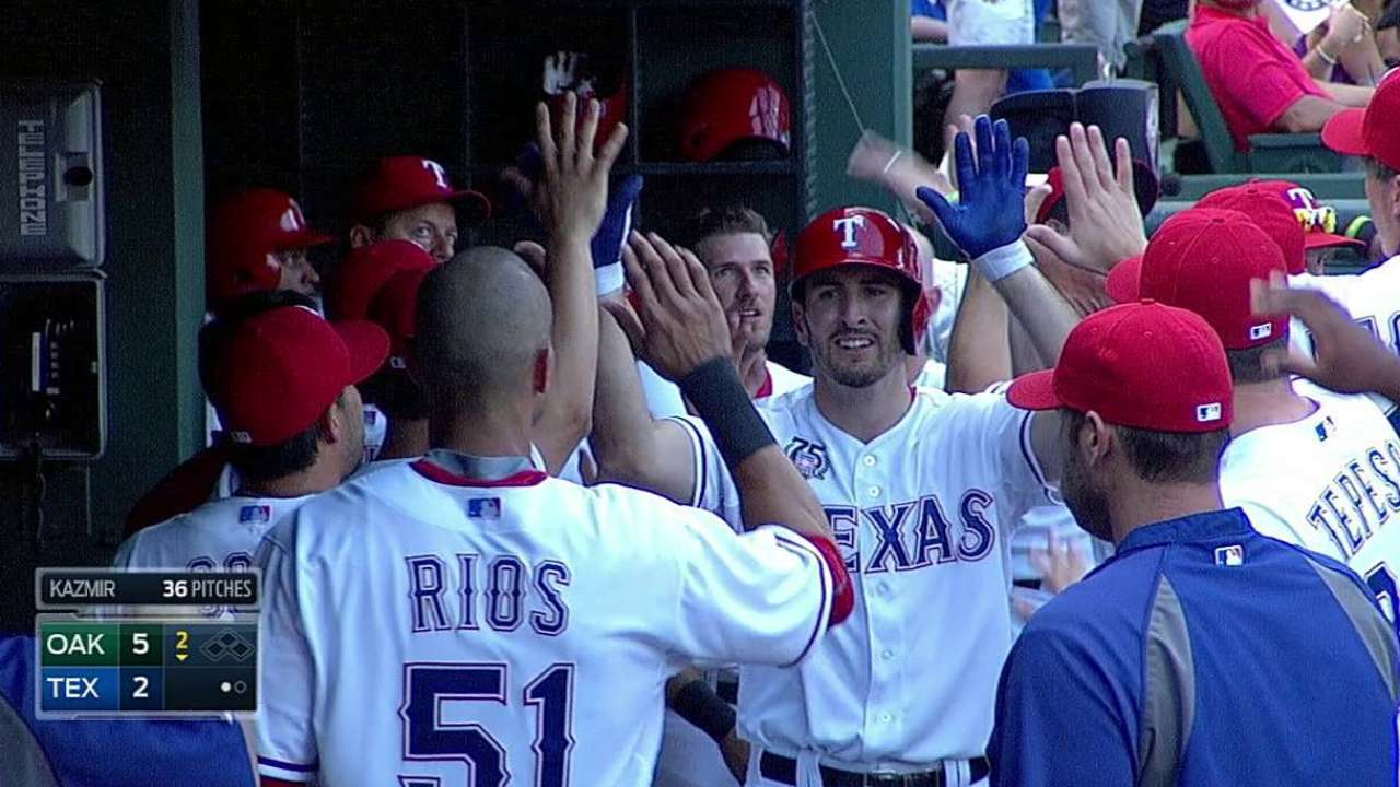 Rangers' home woes continue in loss to A's