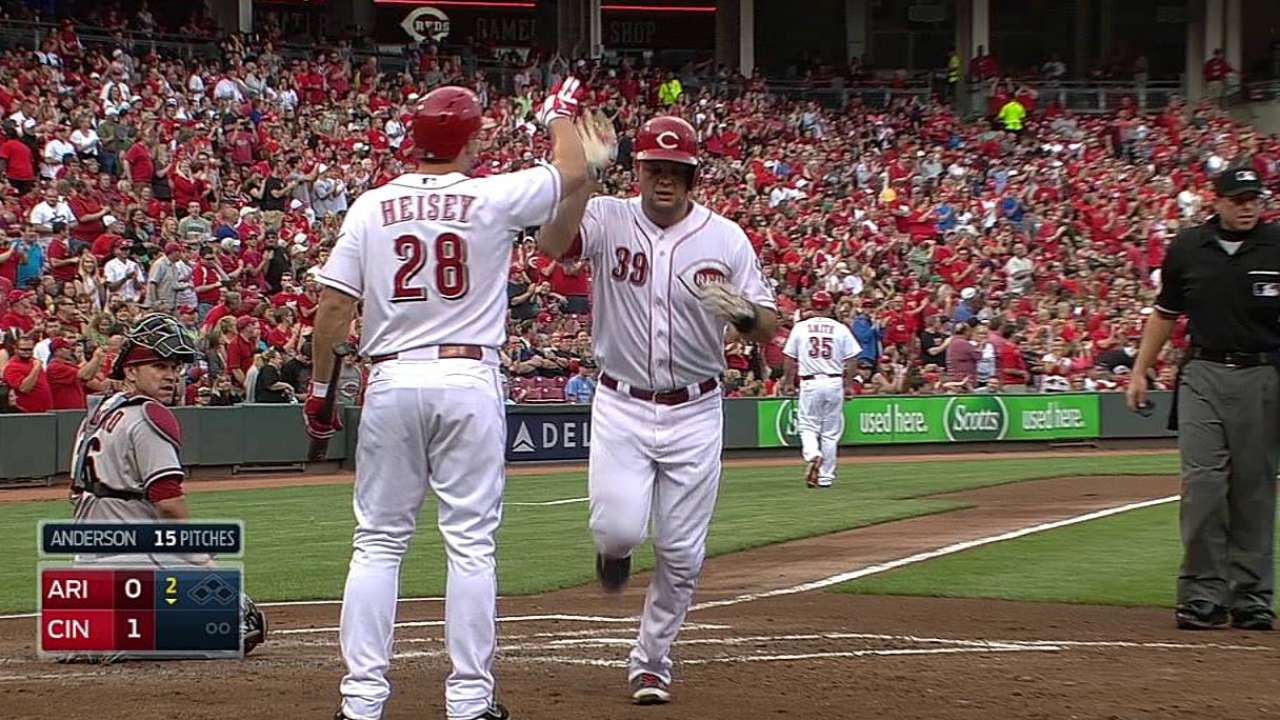 Reds held to six hits in 15-inning loss to D-backs