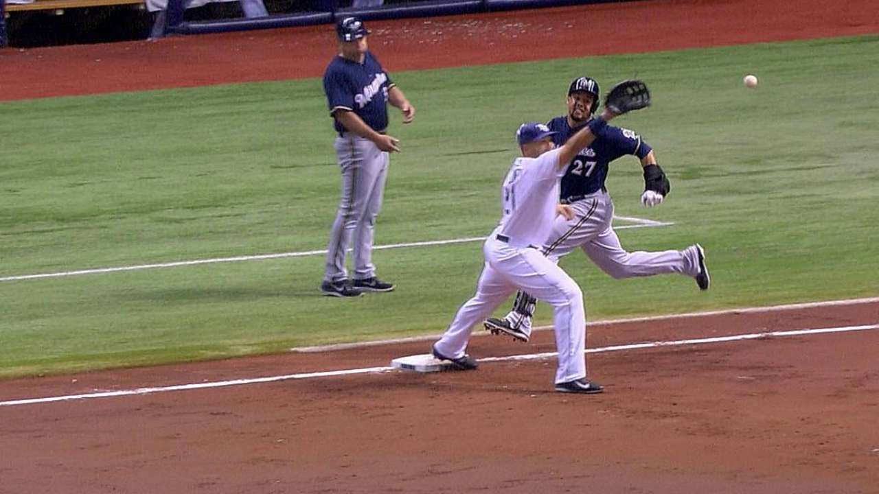 Rays lose challenge on potential double play