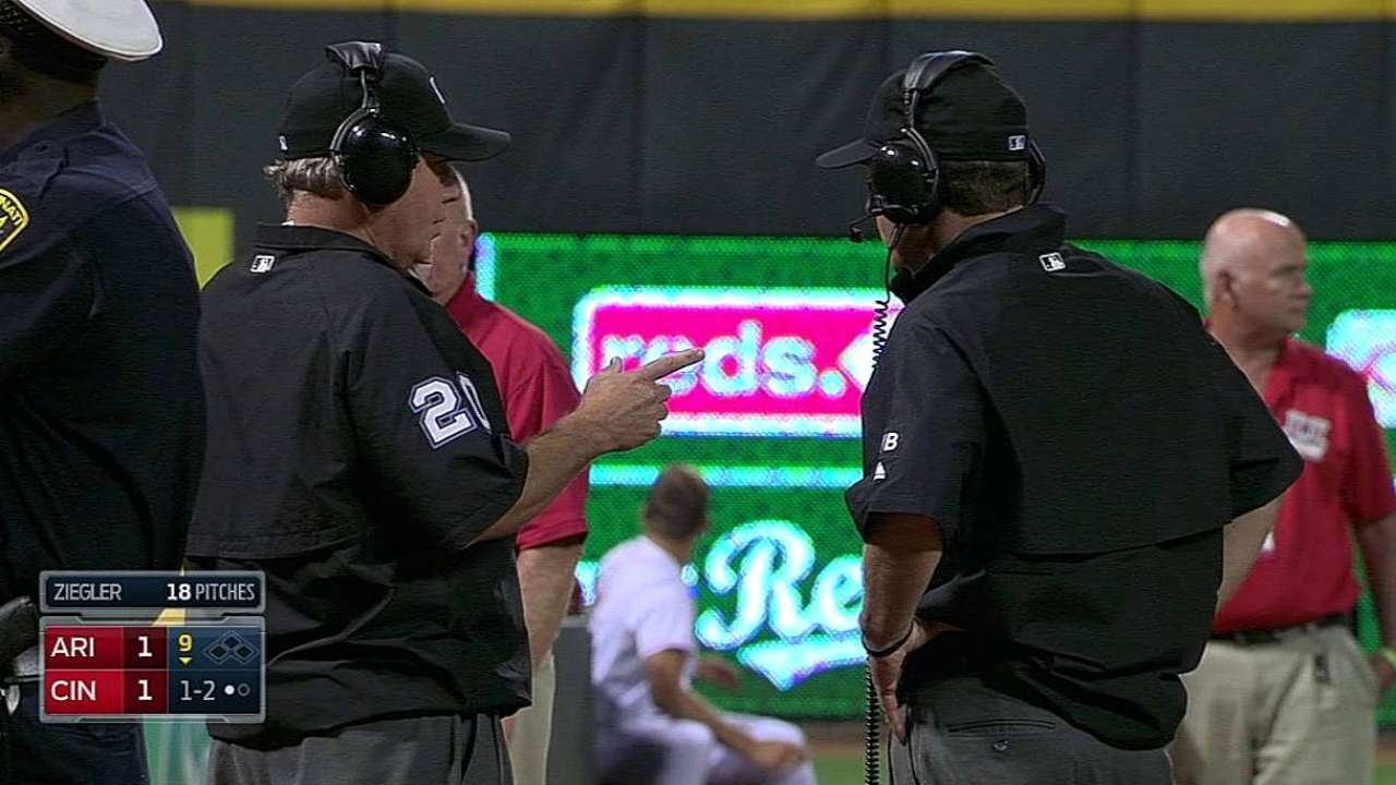 D-backs lose challenge after fan catches foul ball