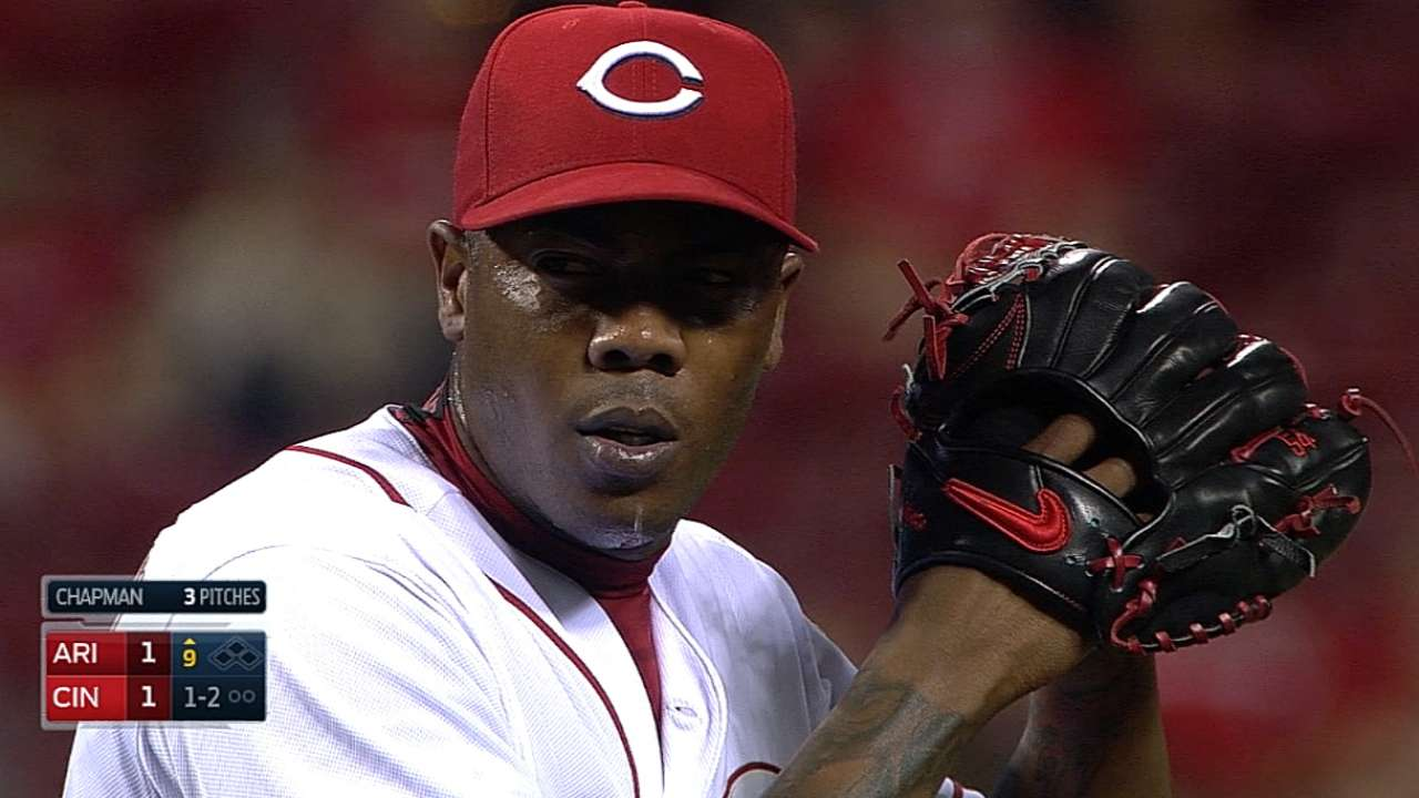 Chapman turns up the heat against D-backs