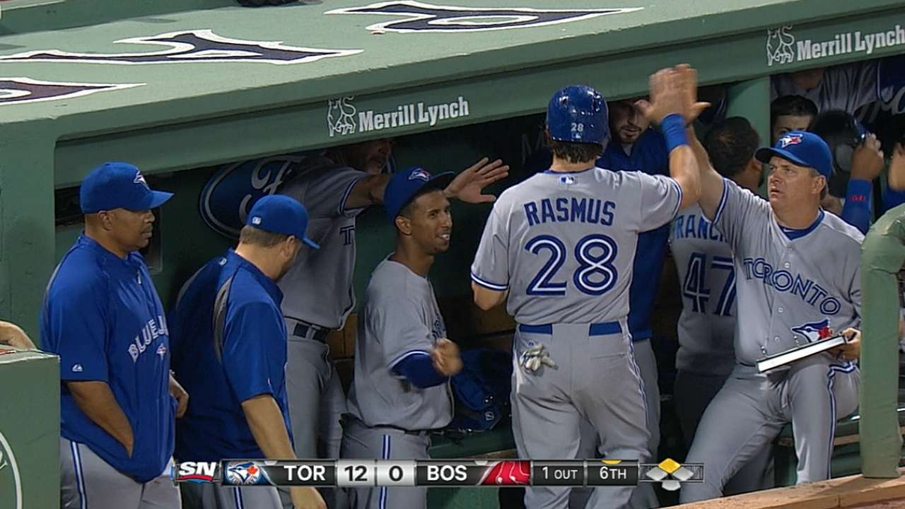 Blue Jays erupt in nine-run sixth at Fenway