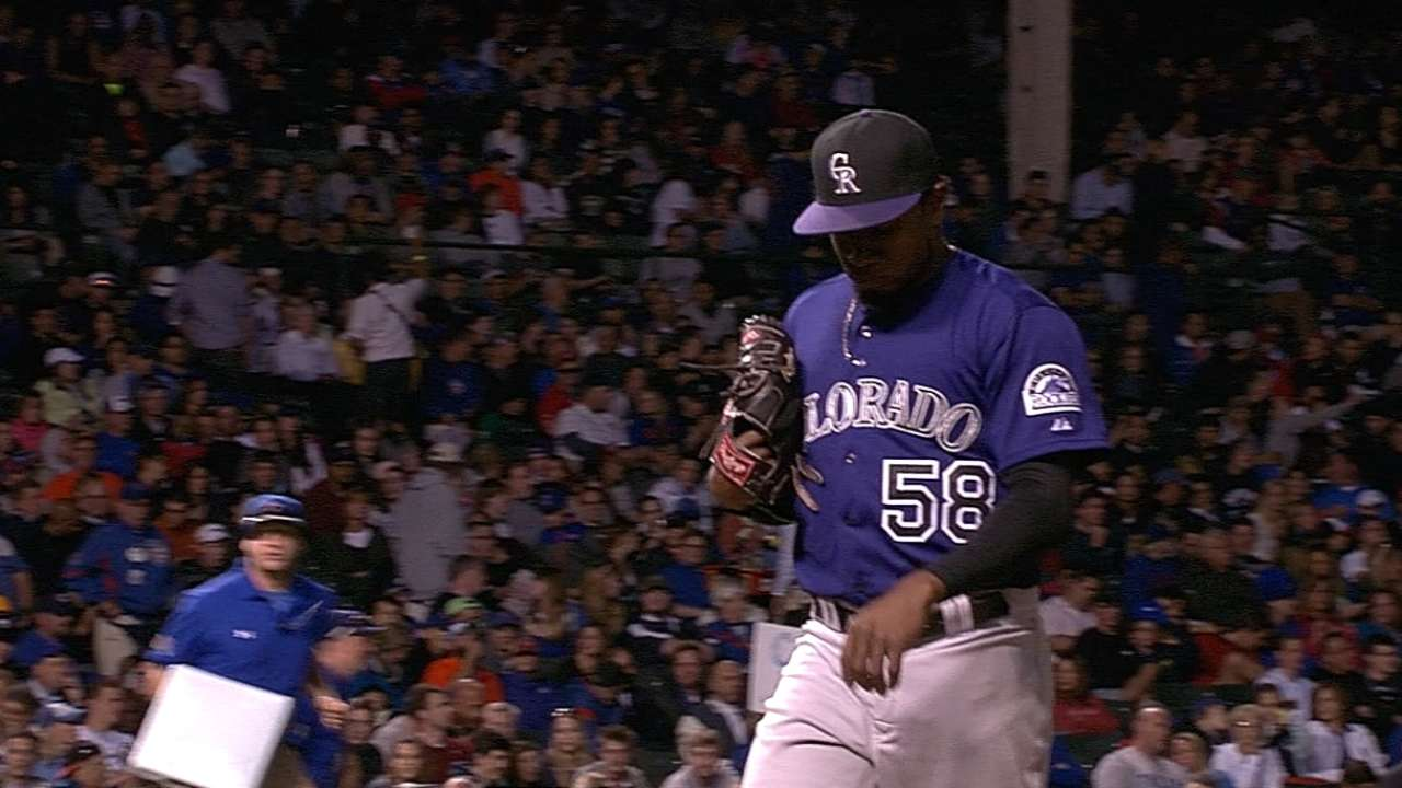 Flande fans eight in Rockies' loss to Cubs