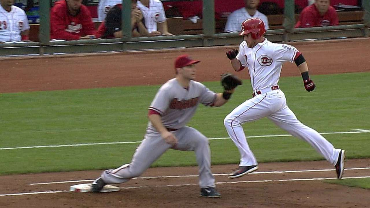 Overturned call leads to Reds' run