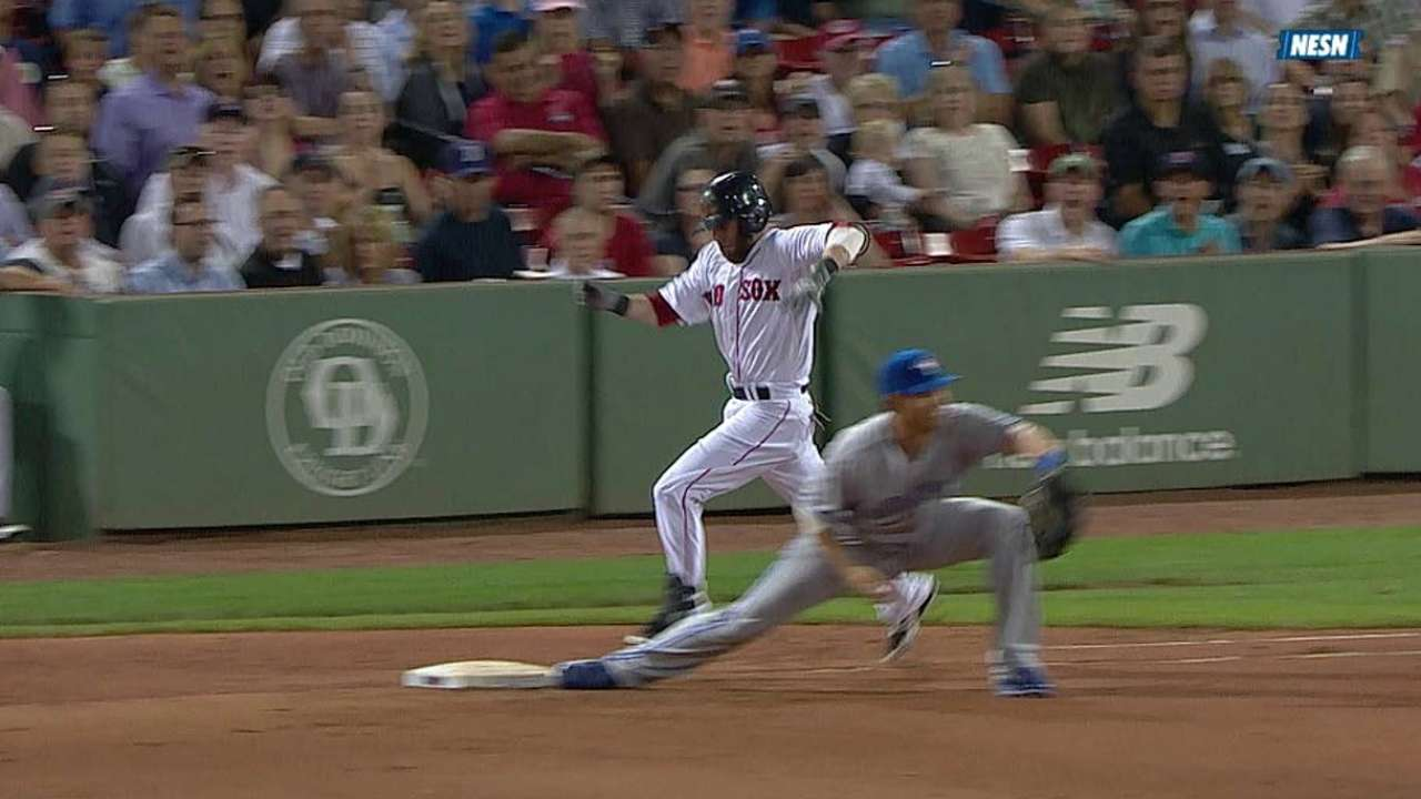 Red Sox lose challenge on Reyes' defensive gem