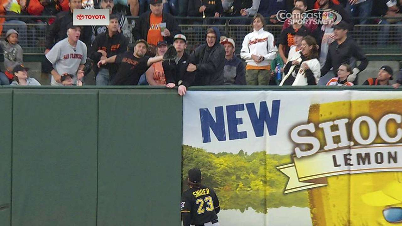 Morse's homer confirmed after video review
