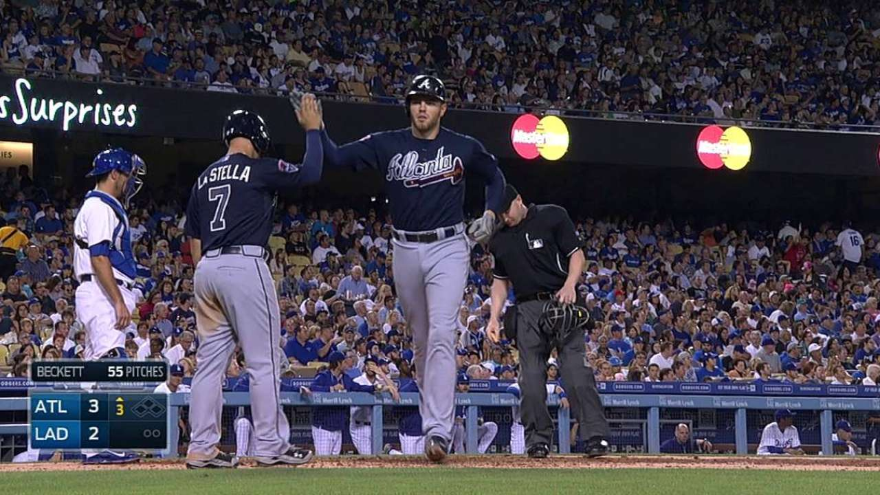 Braves relive NLDS letdown in return to LA