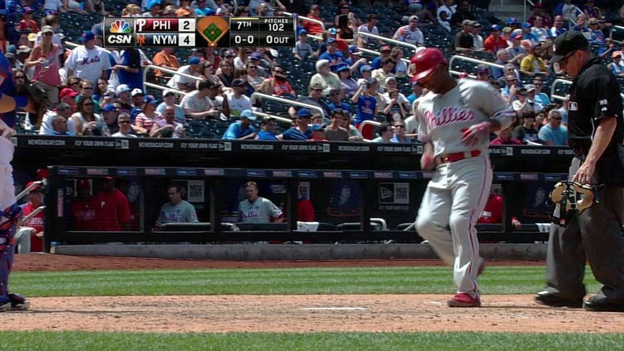 Phillies can't contain Mets' offense, drop road set