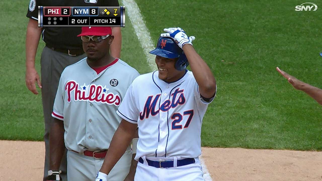Mets rout Phillies with hit parade, five-run inning