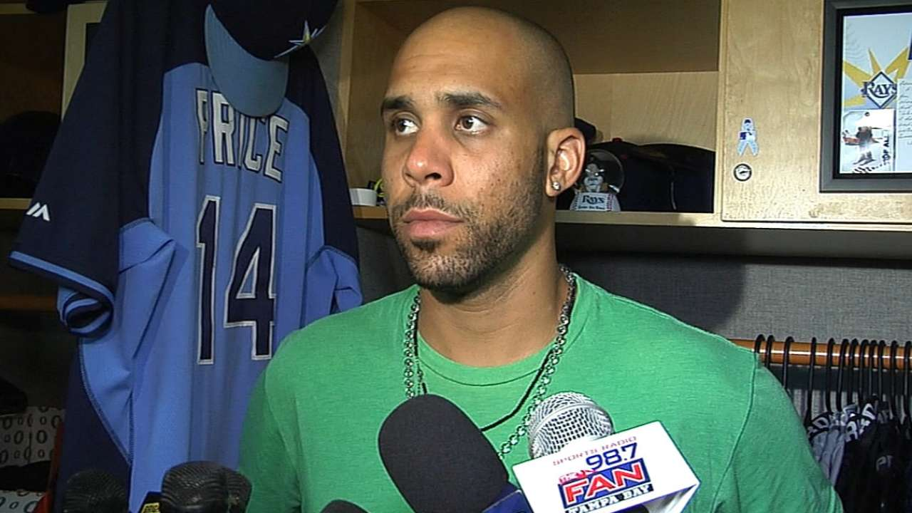 Teammates hopeful Price remains with Rays
