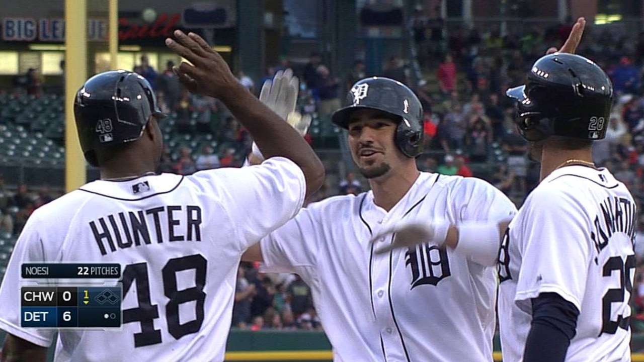 Castellanos delivers big hit in return to action